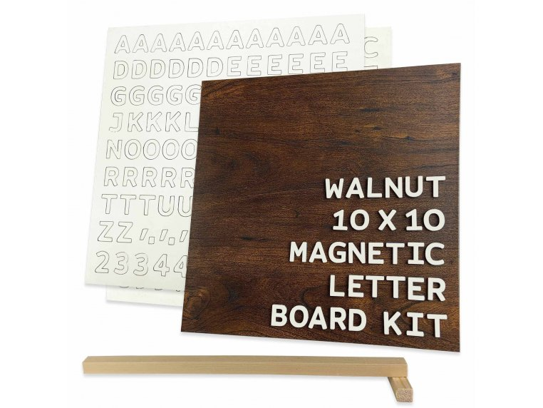 Wooden Magnetic Letter Board Kit by Jut Made - 5