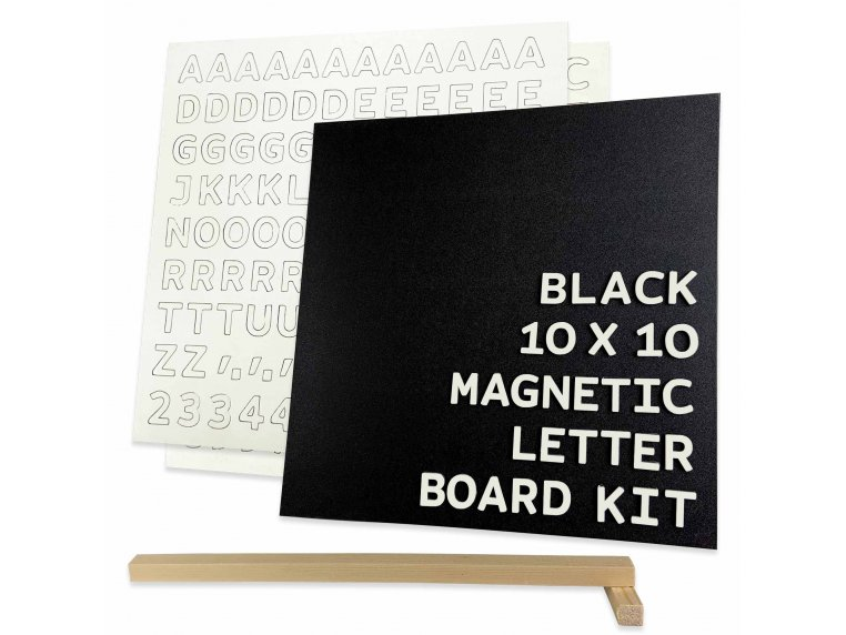 Wooden Magnetic Letter Board Kit by Jut Made - 6