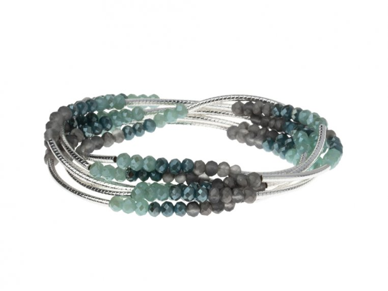 Bead & Etched Metal Scout Wrap Bracelet by Scout Curated Wears - 5