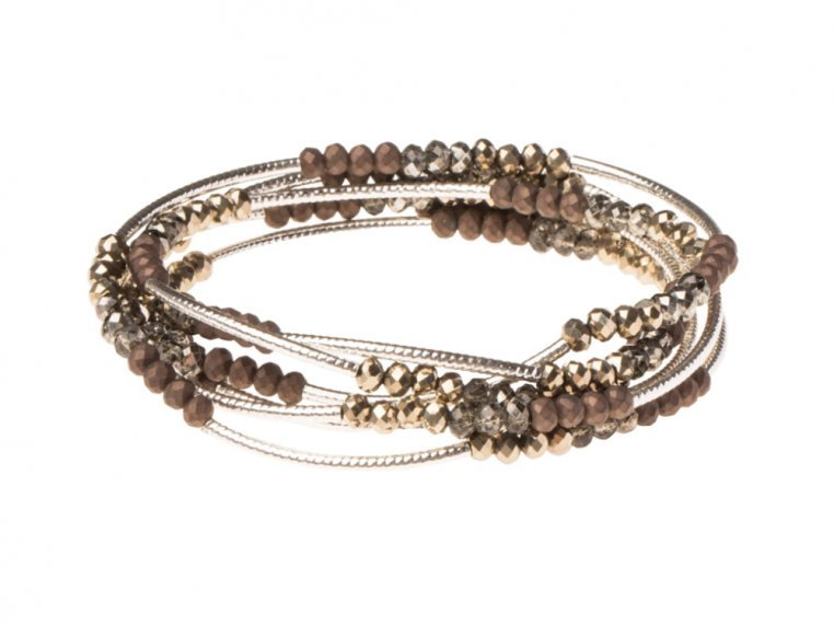 Bead & Etched Metal Scout Wrap Bracelet by Scout Curated Wears - 6