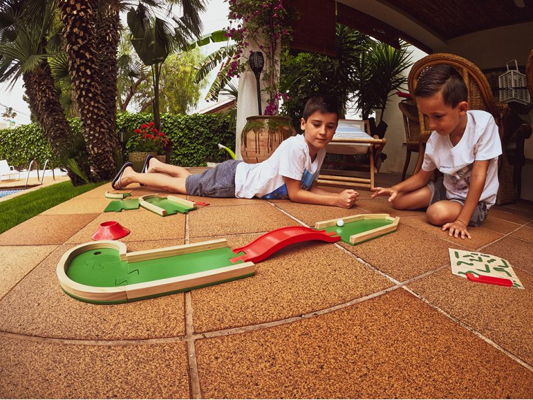 Wooden Mini Golf Board Game by Plakks - 1