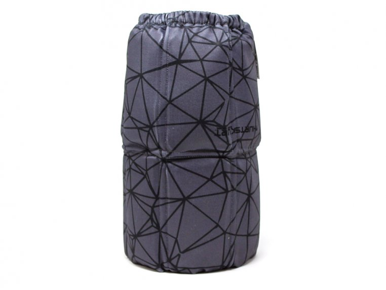 Stretch-To-Fit Hot/Cold Gel Sleeve - Black Gray - Medium