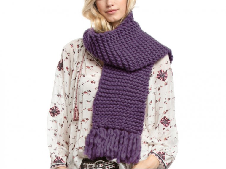 Beginner Learn to Knit Scarf Kit by Third Piece - 1