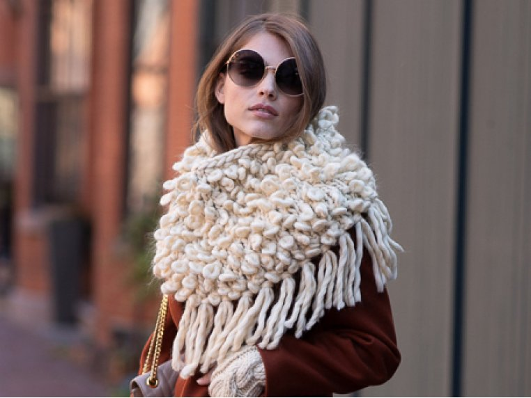 Intermediate Bowery Loopy Cowl Knit Kit by Third Piece - 1