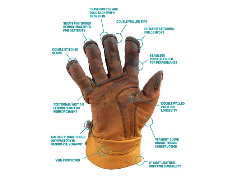 Durable Leather Work Gloves by Vermont Glove - 3