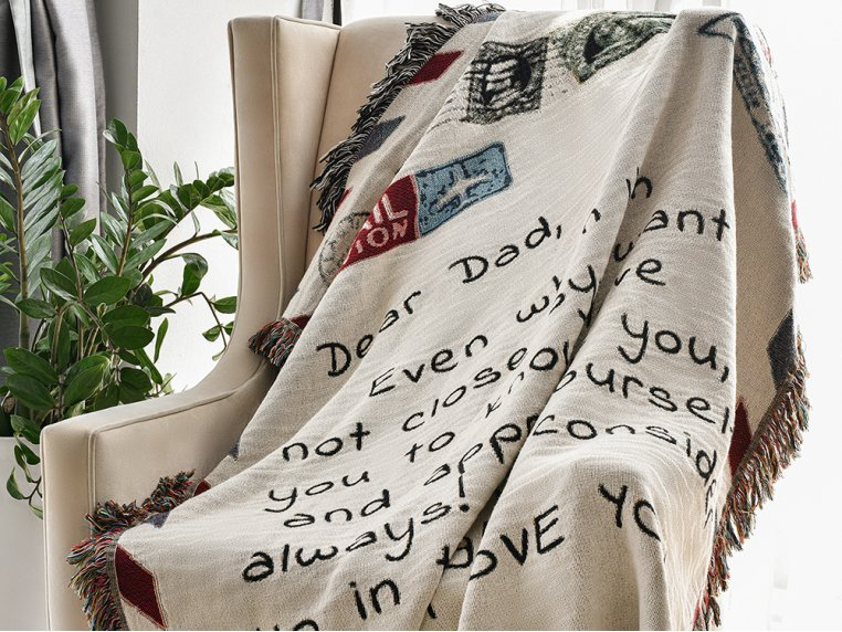 Personalized Woven Message Blanket by MentionedYou - 1