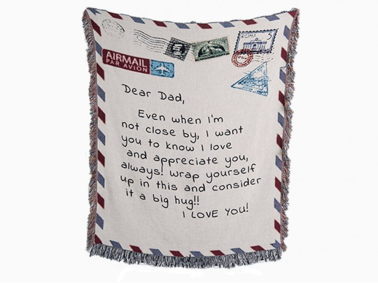 Personalized Woven Message Blanket by MentionedYou - 4