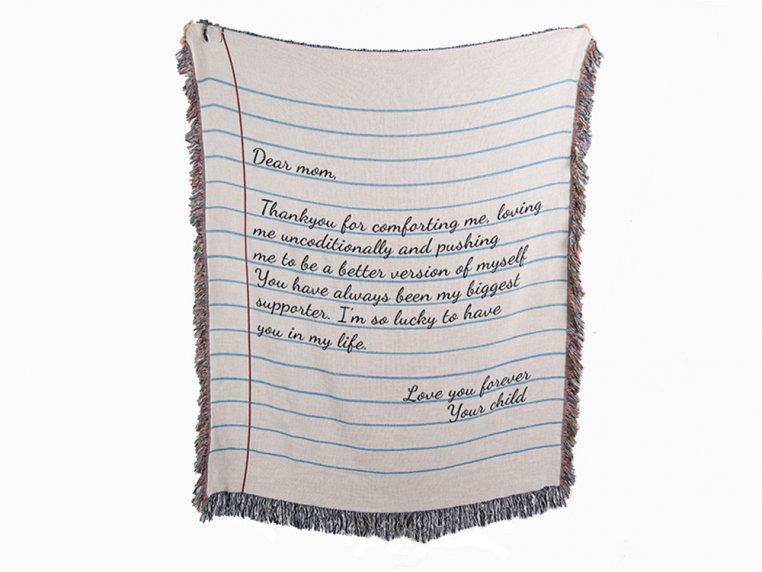 Personalized Woven Message Blanket by MentionedYou - 5