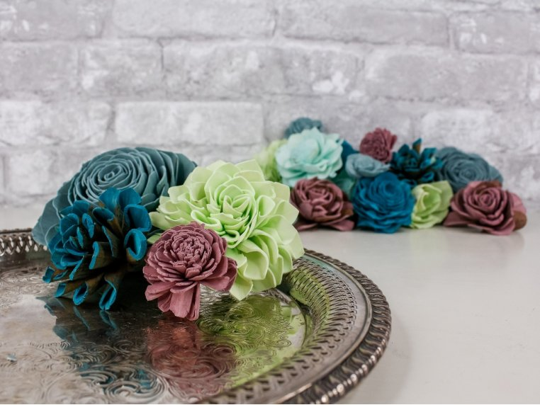 Assorted Wooden Flowers by Sola Wood Flowers - 3