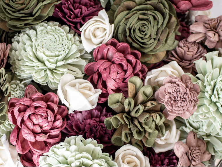 Assorted Wooden Flowers by Sola Wood Flowers - 4