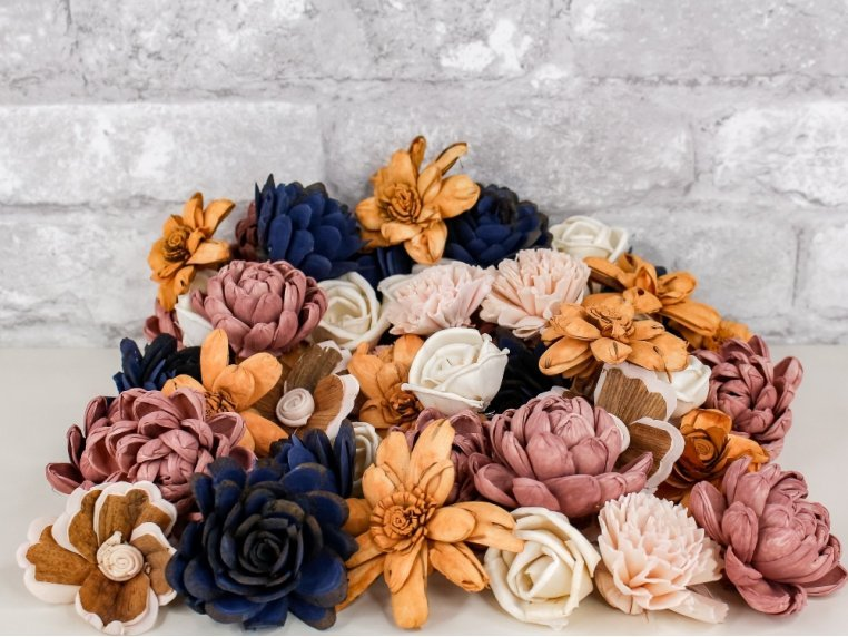 Assorted Wooden Flowers by Sola Wood Flowers - 1