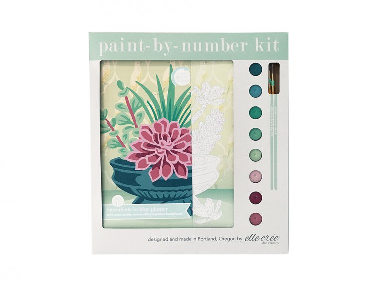 Modern Paint By Number Art Kit by elle crée - 10