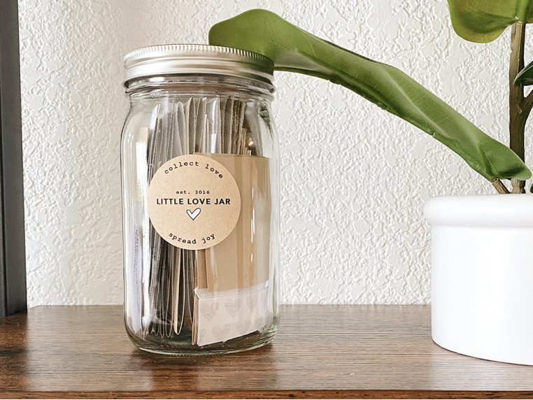 Personalized Jar Full of Loving Messages by Little Love Jar - 1