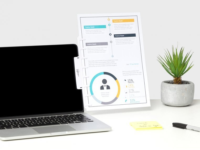 Attachable Monitor Note & Copy Holder by Note Tower - 1