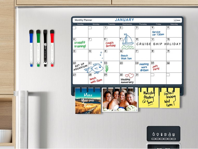 Magnetic Refrigerator Planner by Note Tower - 1