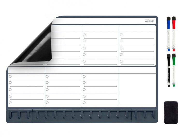 Magnetic Refrigerator Planner by Note Tower - 5