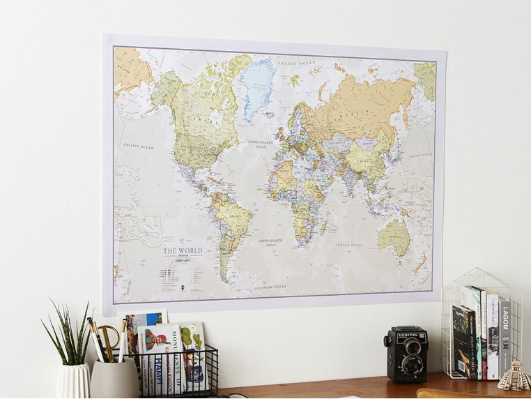 Classic Wall Map by Maps International - 1