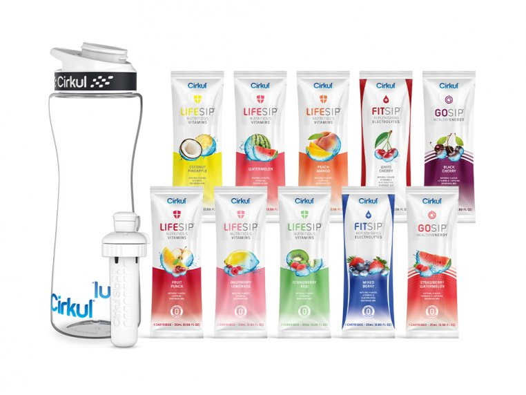 Flavor Cartridge & Water Bottle Bundle by Cirkul - 6