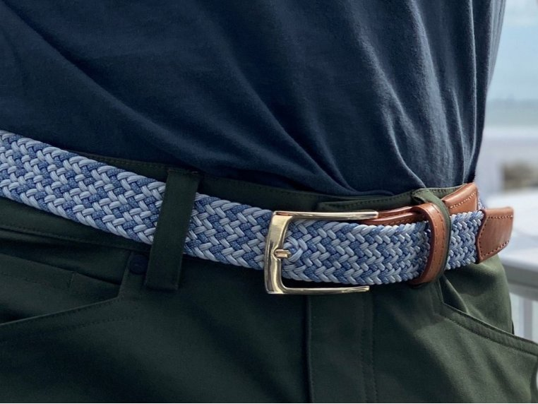Modern Woven & Accent Leather Belt by Hyde Belt Company - 1
