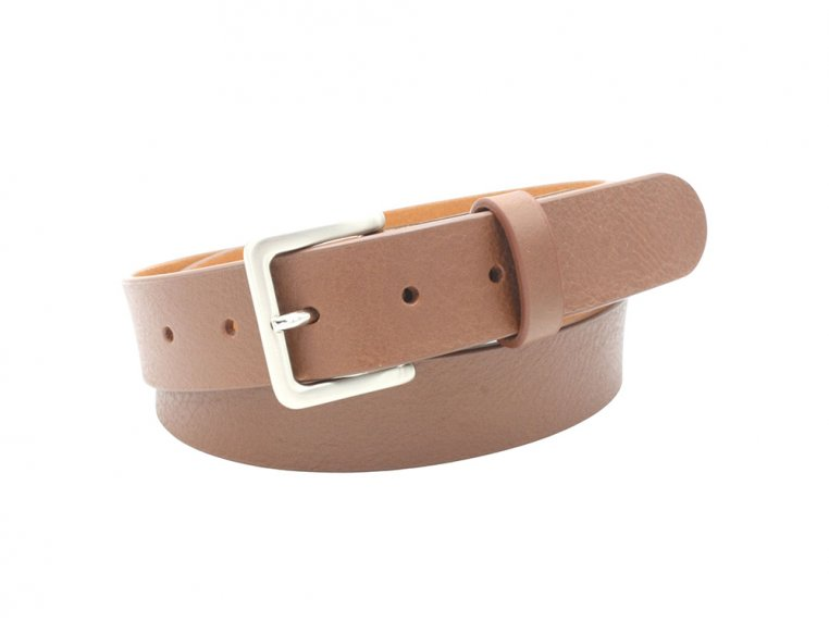 Pioneer Rounded Edge Leather Belt by Hyde Belt Company - 2