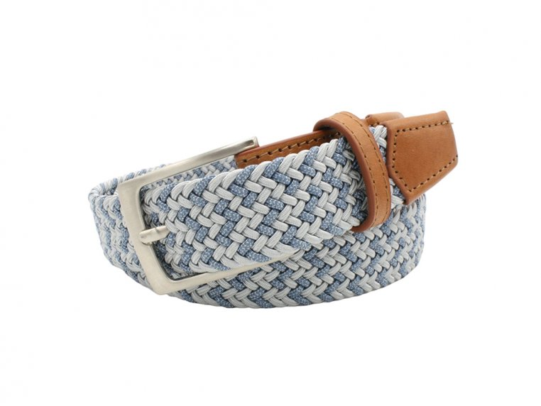 Modern Woven & Accent Leather Belt by Hyde Belt Company - 3