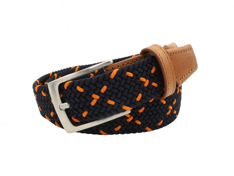 Modern Woven & Accent Leather Belt by Hyde Belt Company - 4