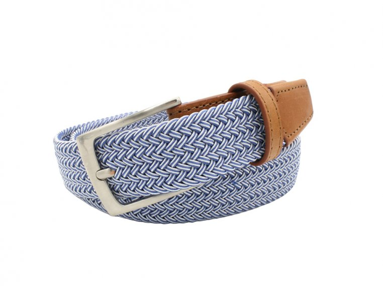 Modern Woven & Accent Leather Belt by Hyde Belt Company - 5