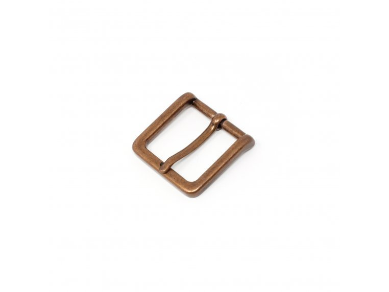 Modern Woven & Accent Leather Belt - Casual Buckle - Copper