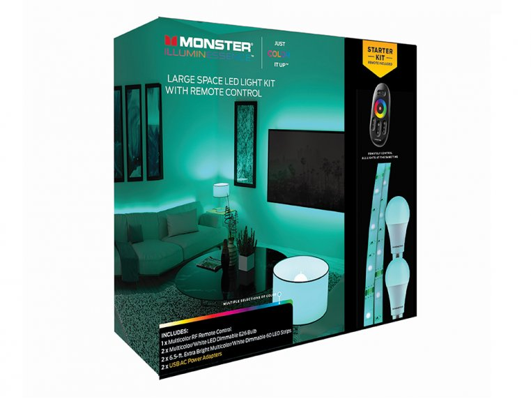 Colorful LED Mood Light Strip Kit by Monster Lighting - 5