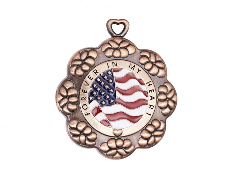 American Flag Letter Locket For Ashes by Eternity Letter - 2