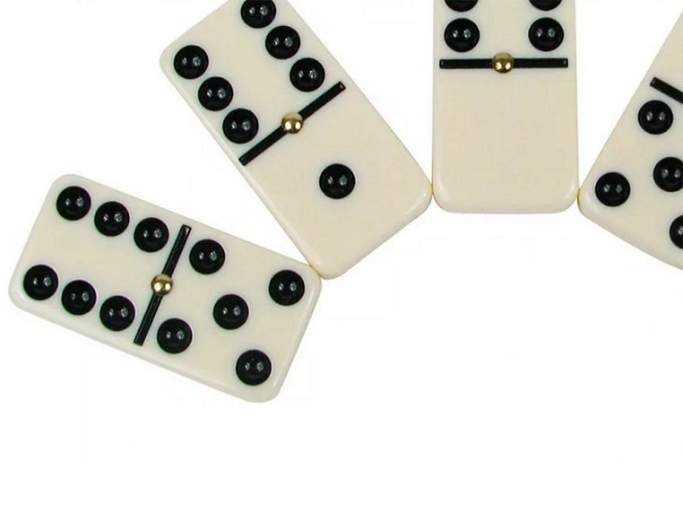 Classic Double 6 Dominoes Game Set by New Entertainment - 3