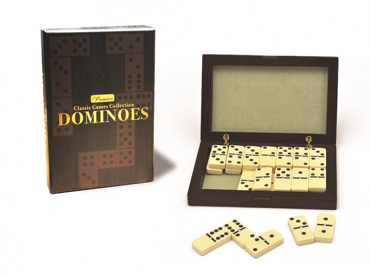 Classic Double 6 Dominoes Game Set by New Entertainment - 1