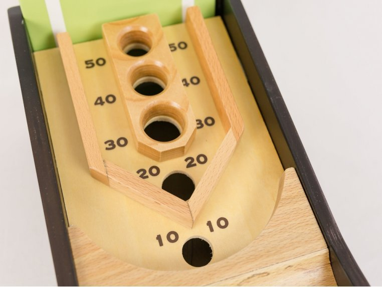 Wooden Tabletop Skee Ball Game by New Entertainment - 3