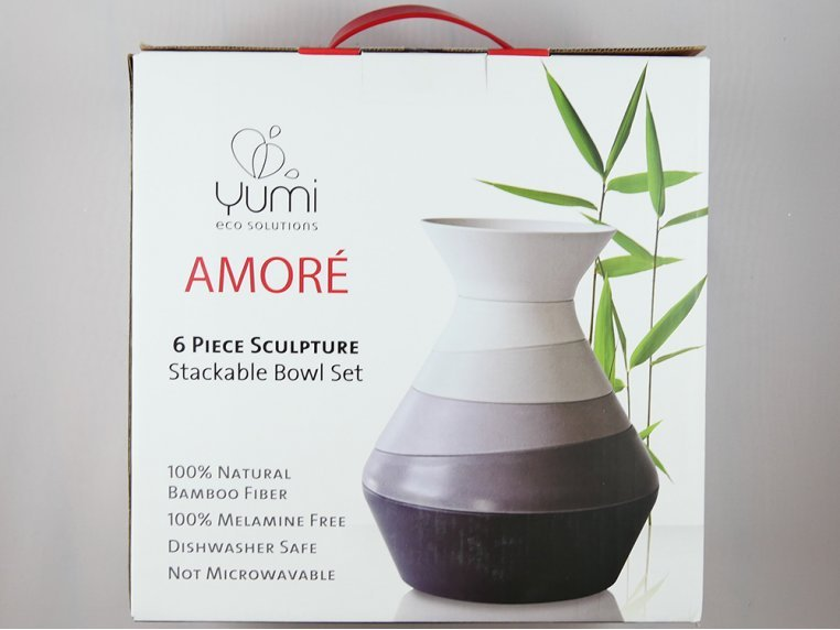 6-Piece Sculpture Stackable Bowl Set by Yumi EcoSolutions - 3