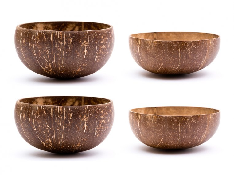 Original Coconut Shell Bowls Pack by Rainforest Bowls - 6