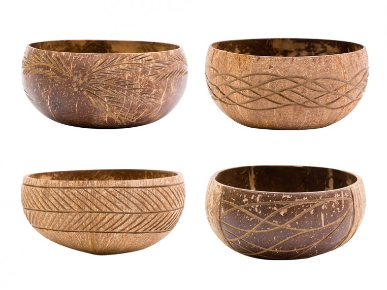 Decorative Art Coconut Bowls Pack by Rainforest Bowls - 1