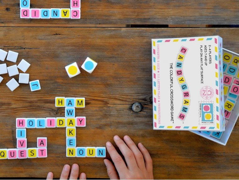 The Colorful Crossword Game by Candygrams - 1