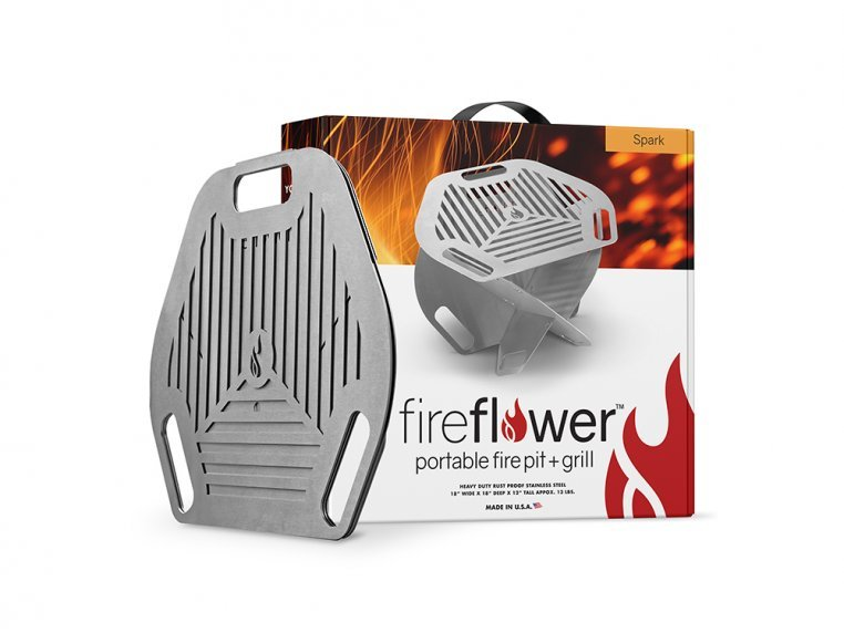 Spark Super Portable 2-in-1 Fire Pit & Grill by Fireflower-USA - 9