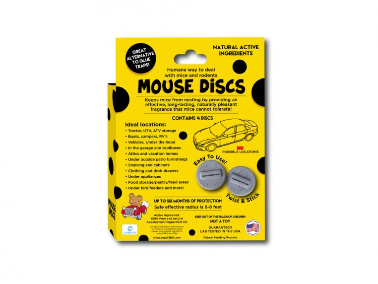 Rodent Repellent for Vehicles Disc Pack by Repel 360 - 2