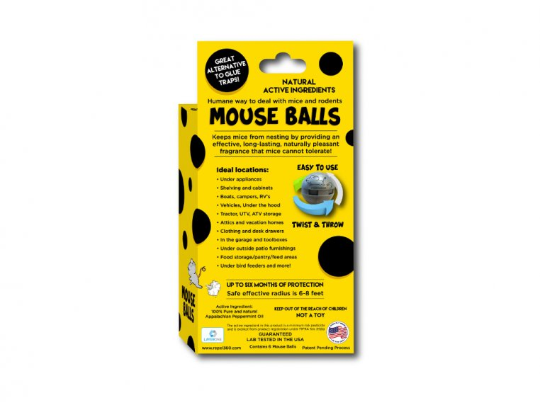 Non-Toxic Rodent Repellent Ball Pack by Repel 360 - 2