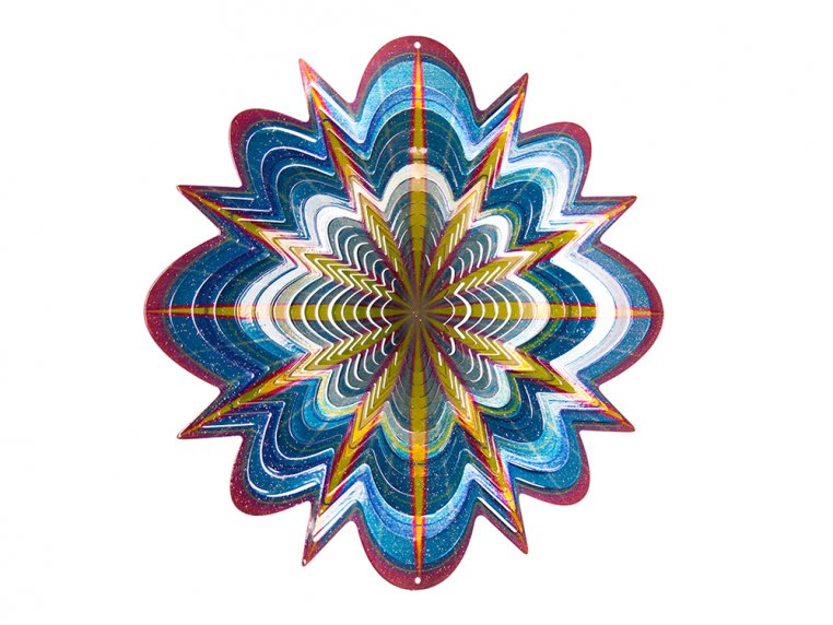 Colorful Metal Mandala Wind Spinner by Spinfinity Designs - 4