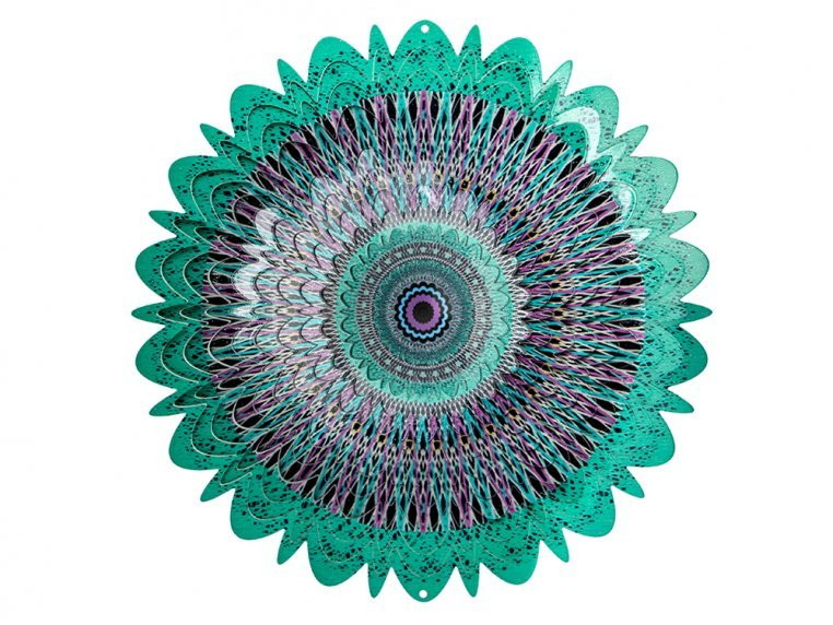 Colorful Metal Mandala Wind Spinner by Spinfinity Designs - 9