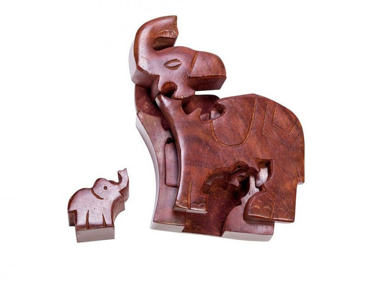 Hand Carved Wooden Puzzle Box by Matr Boomie - 2