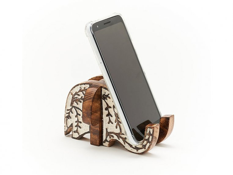 Carved Wood Smartphone Stand by Matr Boomie - 1