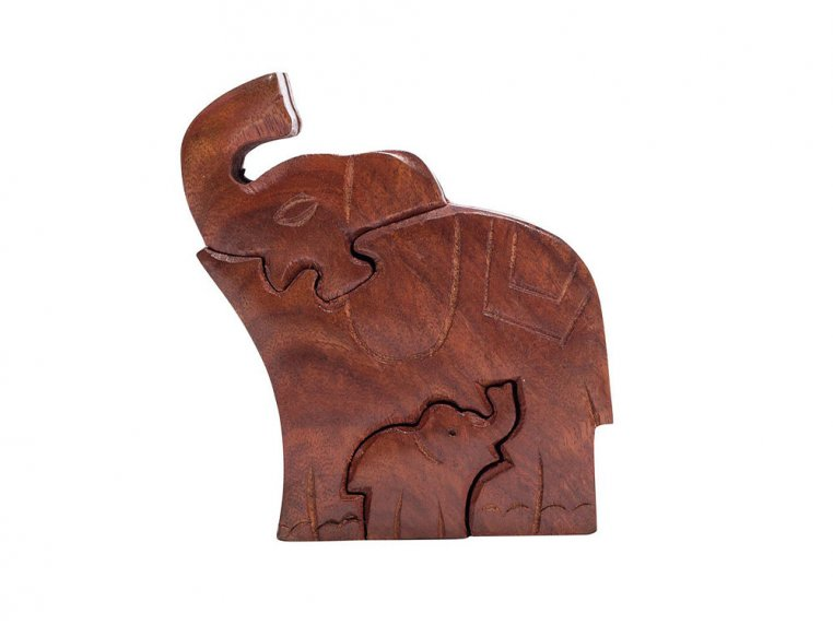 Hand Carved Wooden Puzzle Box by Matr Boomie - 4