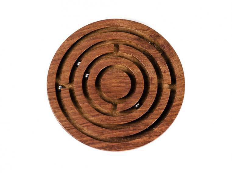 Classic Wooden Labyrinth Game