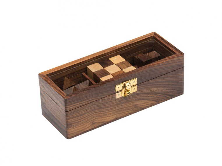 Wooden Geometric Novelty 3 Puzzle Set by Matr Boomie - 2