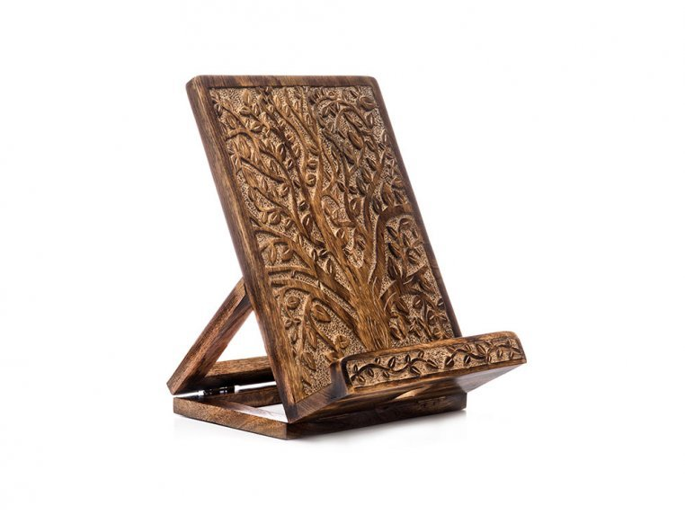 Collapsible Wooden Tablet & Book Stand by Matr Boomie - 1