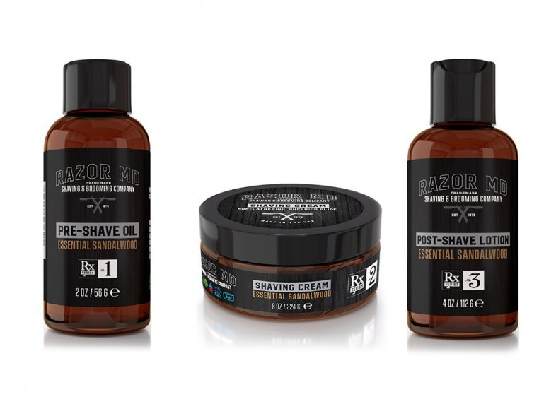 Pre-Shave, Lotion, & Shave Cream Kit by Razor MD - 1