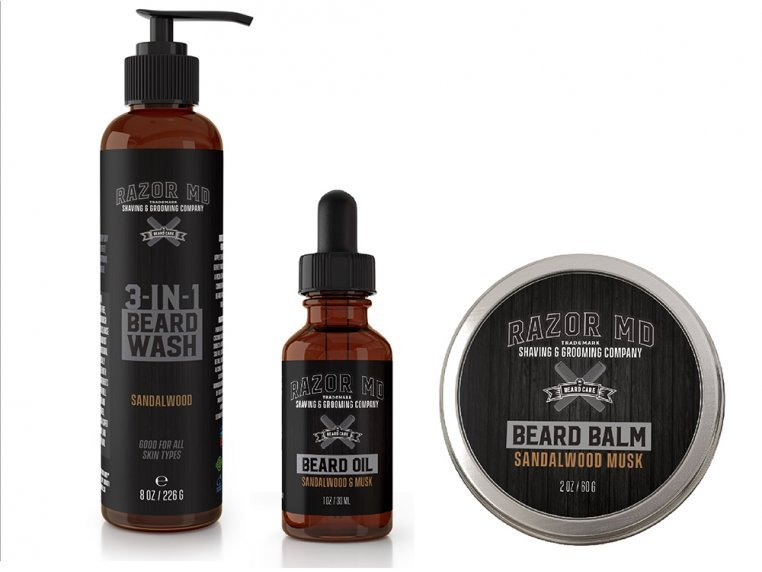 Complete Beard Care Product Kit by Razor MD - 1